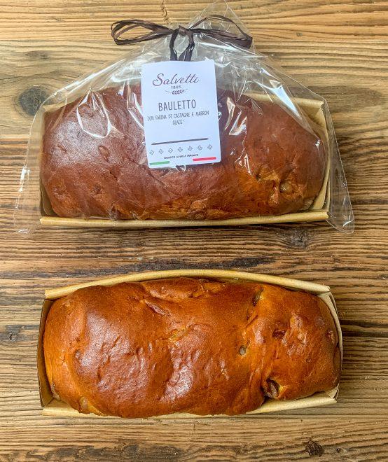 Bauletto farina di castagne e marron glacè